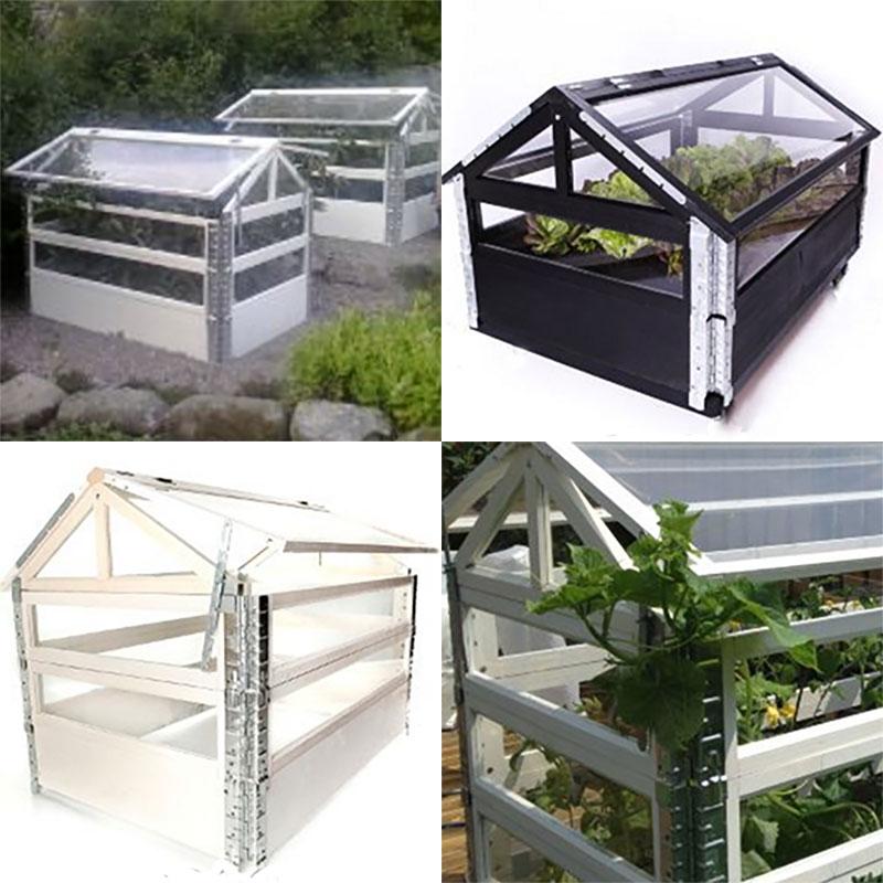 Himna Garden odlingssystem, bottenmodul vit, Drivhusmoduler för pallkrage Himra Garden