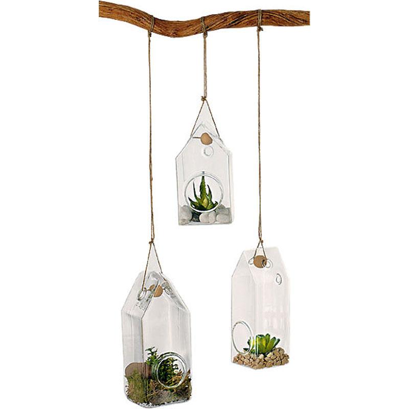 Glashus för upphängning