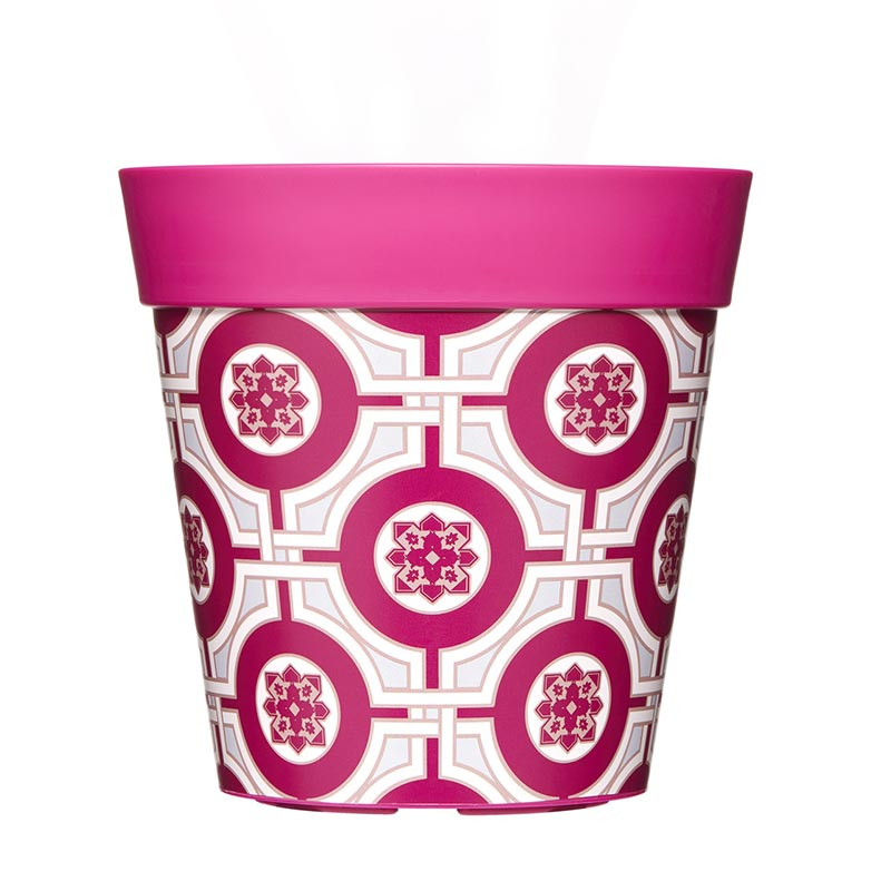 Kruka med rosa kakelmotiv 5 liter