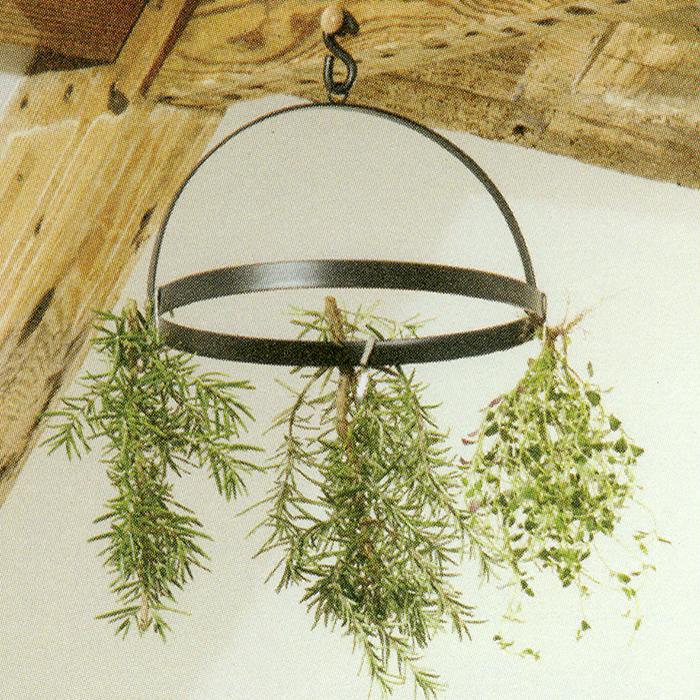 Örttork med krokar, Torkställning för upphängning av kryddor och blommor