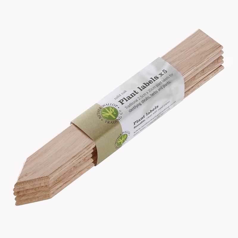 Etiketter - Plantlabels i ek, Plantetiketter tillverkade i ek - FSC