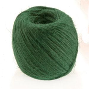 Snöre i grönfärgad jute-Jutesnöre för användning i trädgården