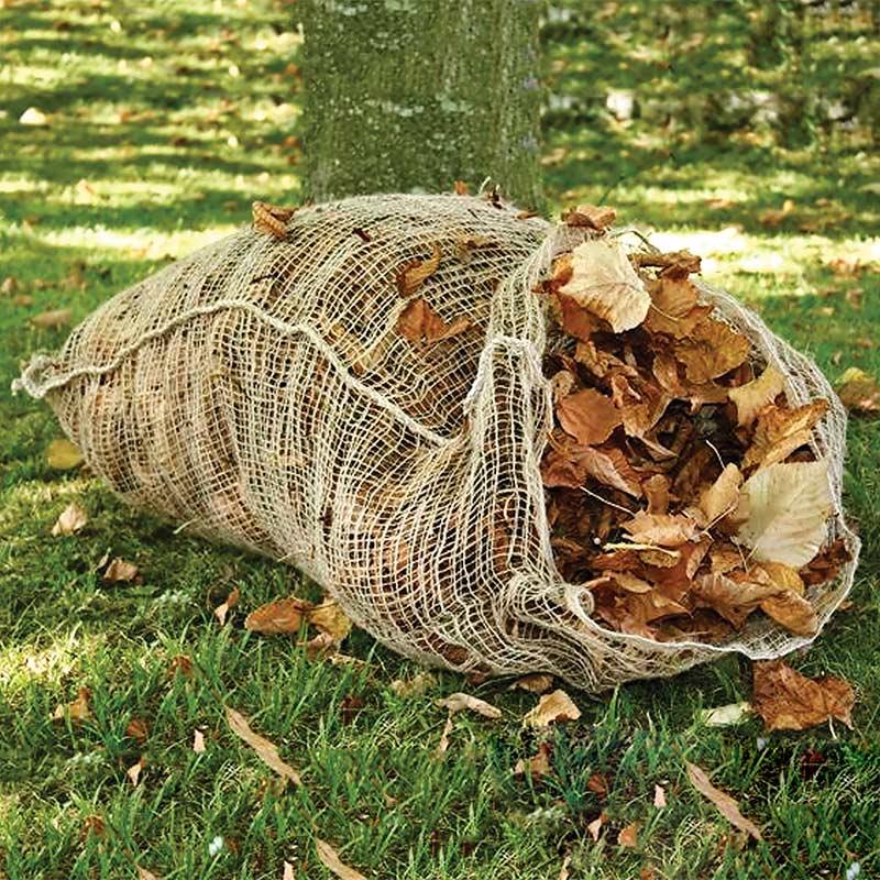 Lövsäck 'Love ém and leave 'em', Snygg och praktisk säck i jute för kompostering av löv