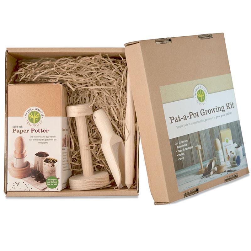 Pat-a-pot set för krukmakare, Planteringsset med krukmakare för papperskrukor