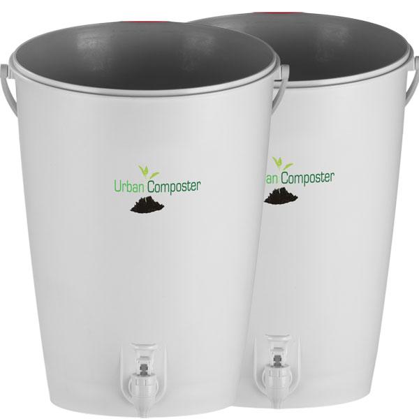 Komposthink för bokashi 2-pack, Hink för bokashikompostering - 2-pack