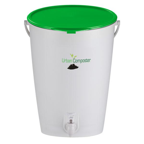 Bokashikompost Urban Composter, Lime-Bokashikompost med grönt lock
