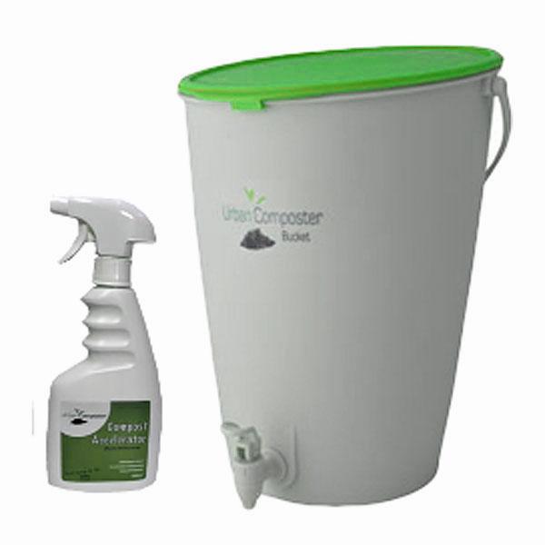 Bokashikompost startset - Lime-Bokashikompost med grönt lock