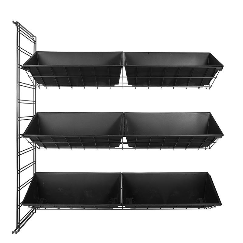 Vplant - Sidopåbyggnad med 3 korgar, svart 1m-Påbyggnadsdel till vertikal odling