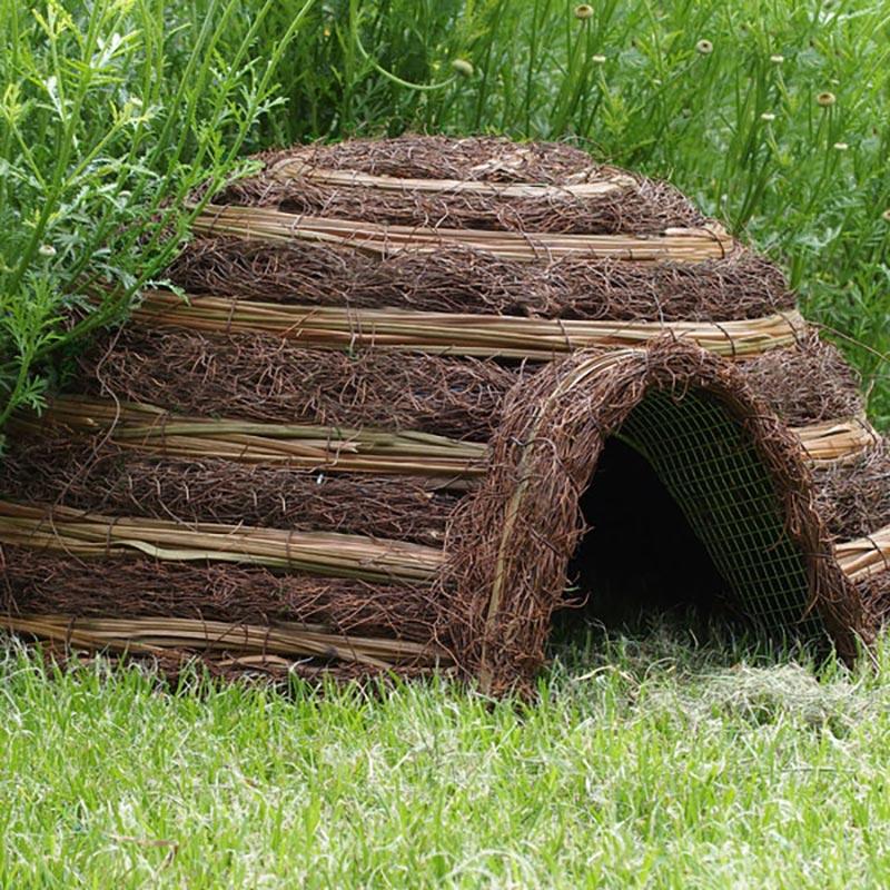 Igelkottshus Igloo med kamouflage, hus till igelkotte