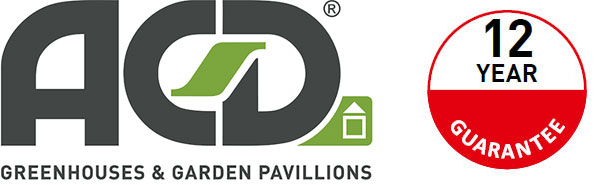 Symbol för 12 års garanti på växthus