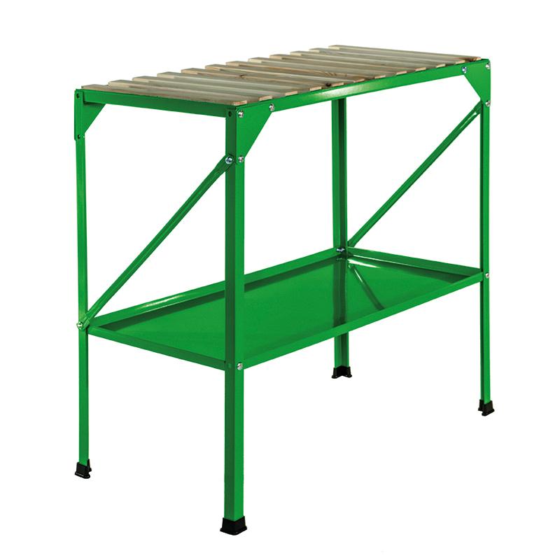 Avlastningsbord i stål för växthus och balkonger' grön