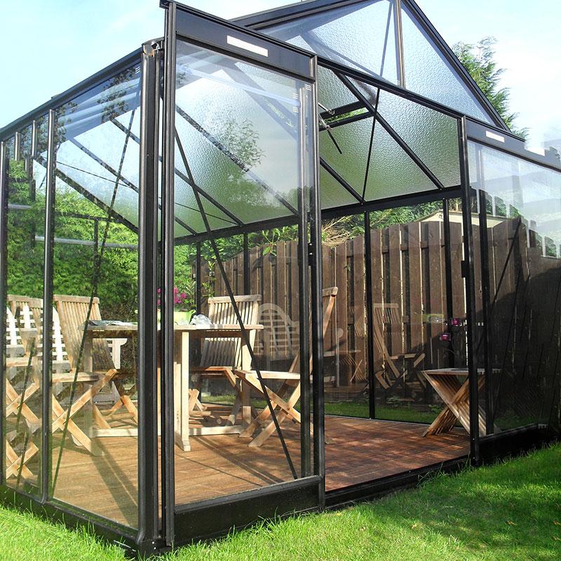 Extradörr/dubbeldörr-Extradörr till växthus