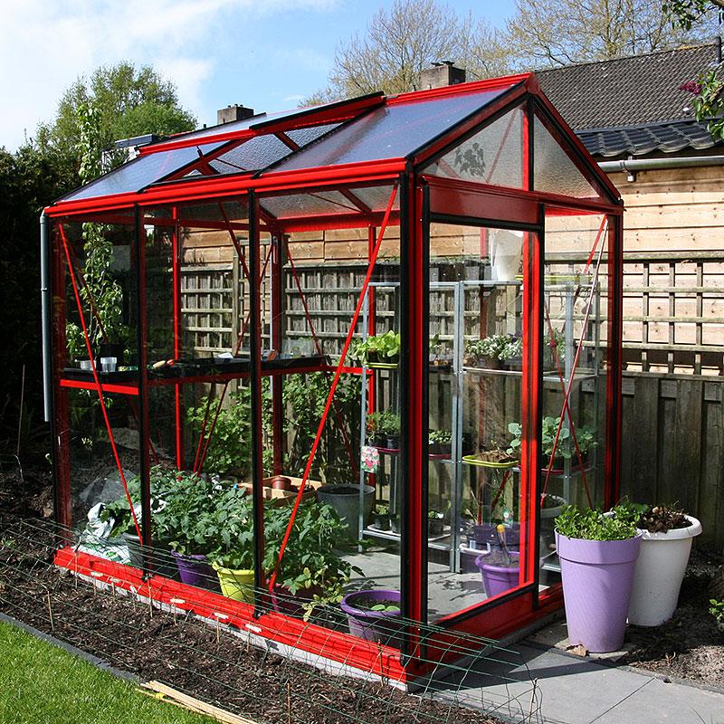 Även ett litet växthus kan ha gott om plats för odling