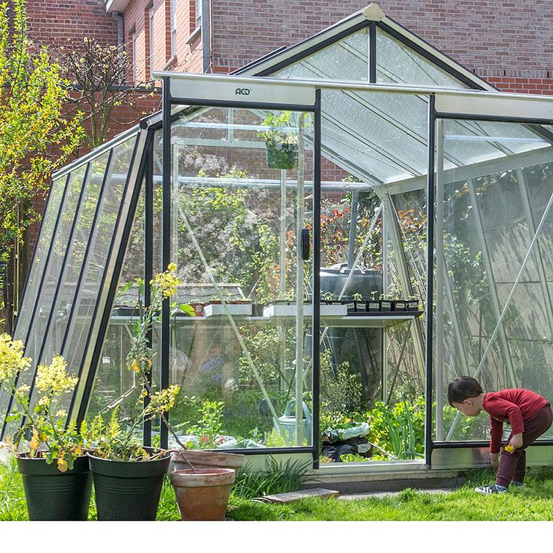 Växthus Action 9,1 med odlingar
