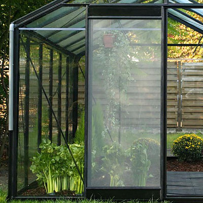Nätdörr för ventilation till växthuset lackat i valfri RAL-färg