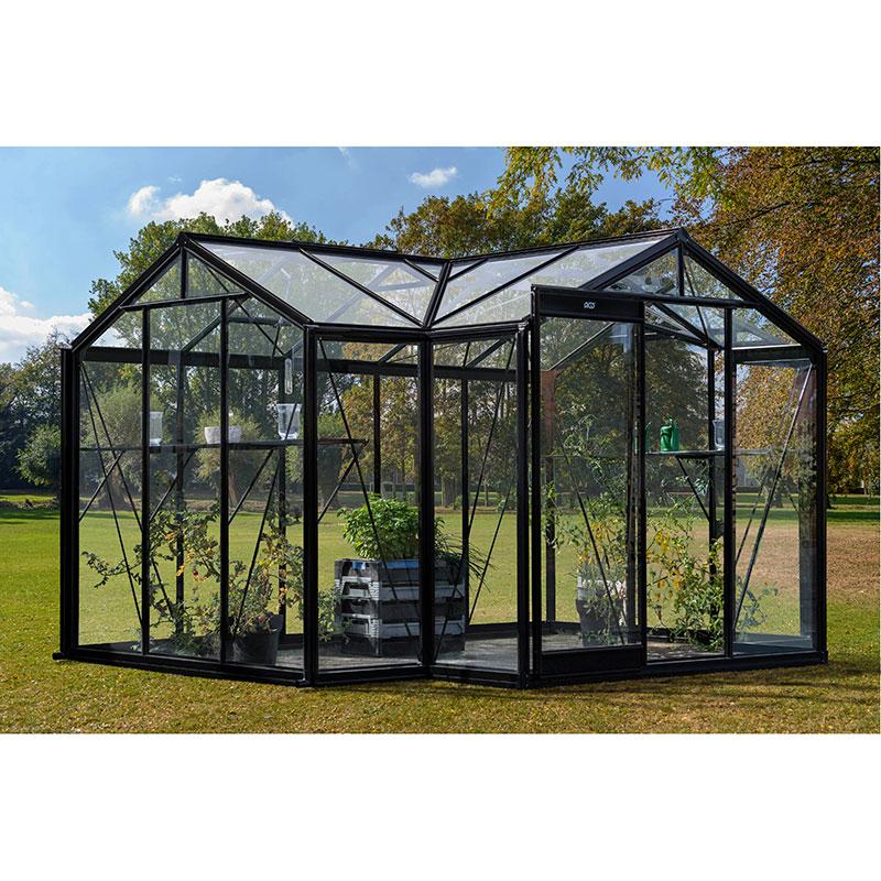 Orangeri Aurelie 10,3 kvm, Orangeri med säkerhetsglas med aluminiumprofiler
