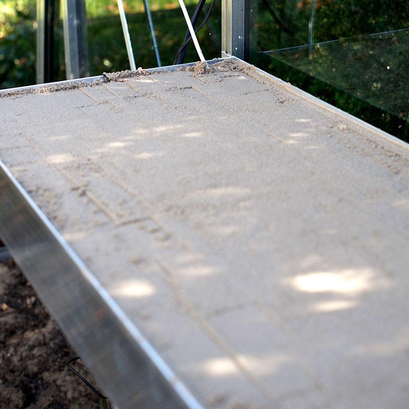Såbord med kant 217 x 42 cm-Såbord med kant för montering i växthus