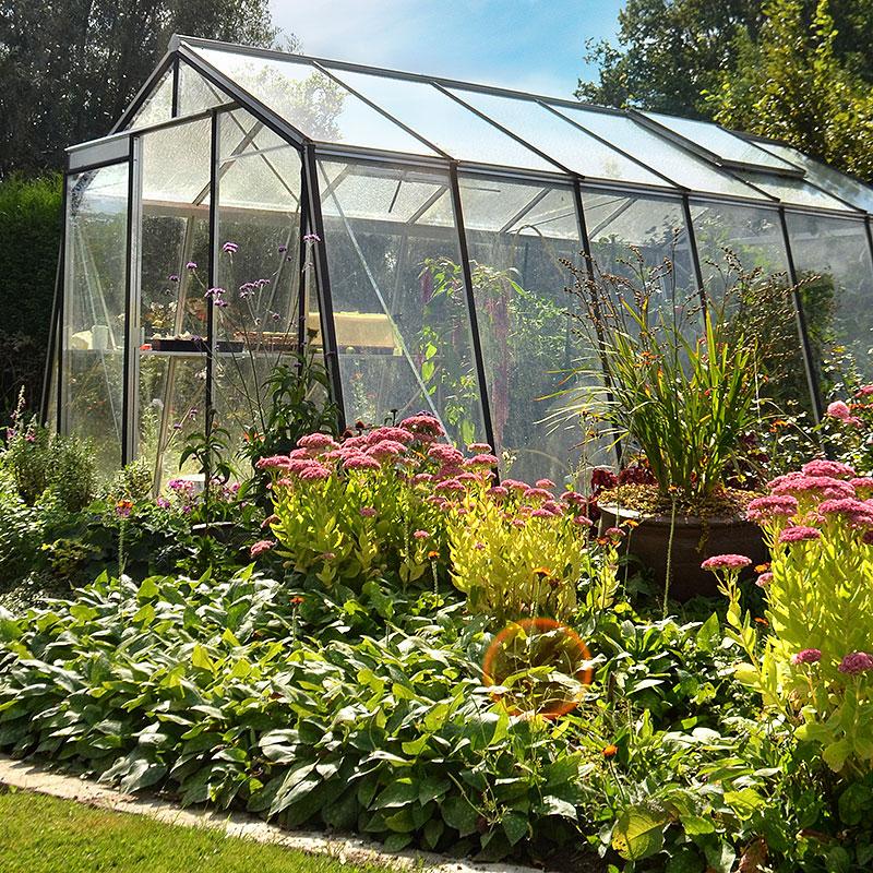 Växthus för odling och avkoppling