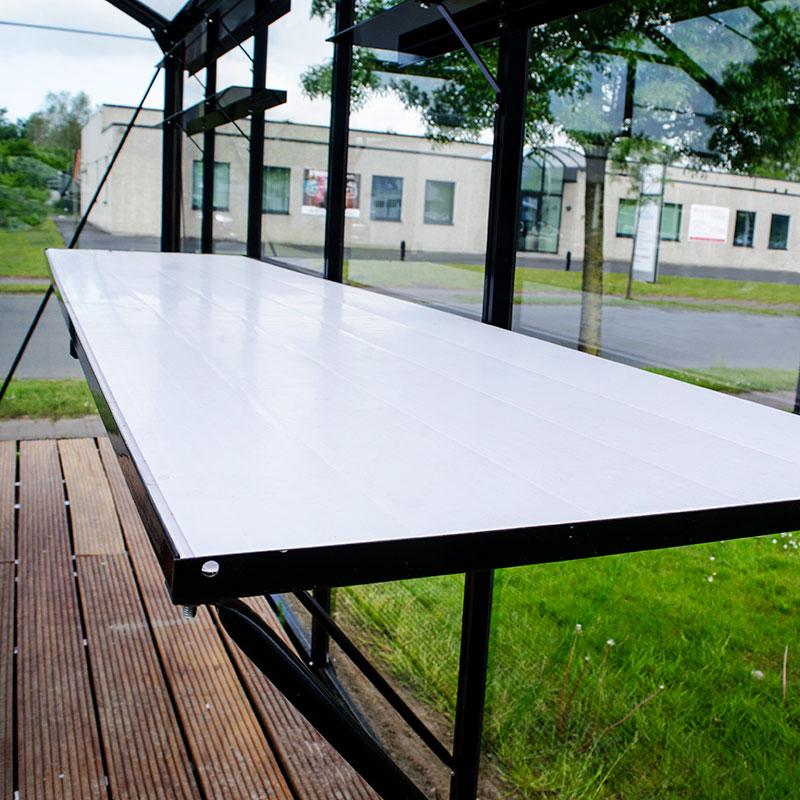 Växthusbord i aluminium lackat i svart