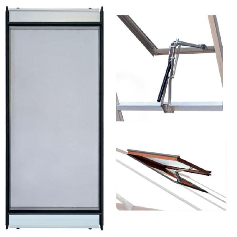 Ventilationspaket till växthus nätdörr, fönsteröppnare och extra fönster