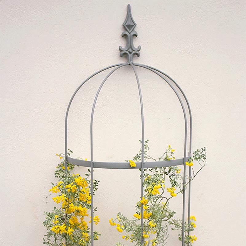 Växtstöd Obelisk för väggmontering-Växtstöd i smide modell Obelisk för väggmontering