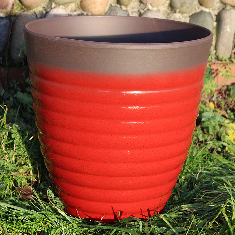 Florence Planter, Post Box Red 35 cm-Lättviktskruka Florence Planter Post Box Red 35 cm