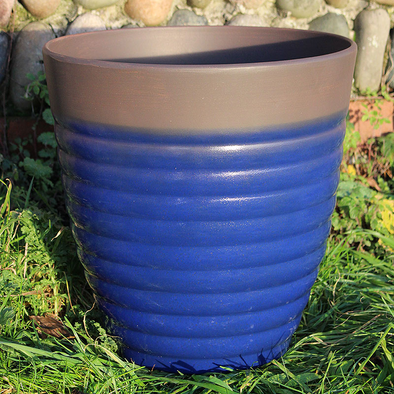 Florence Planter, Diamond Blue 35 cm-Lättviktskruka Florence Planter Diamond Blue 35 cm