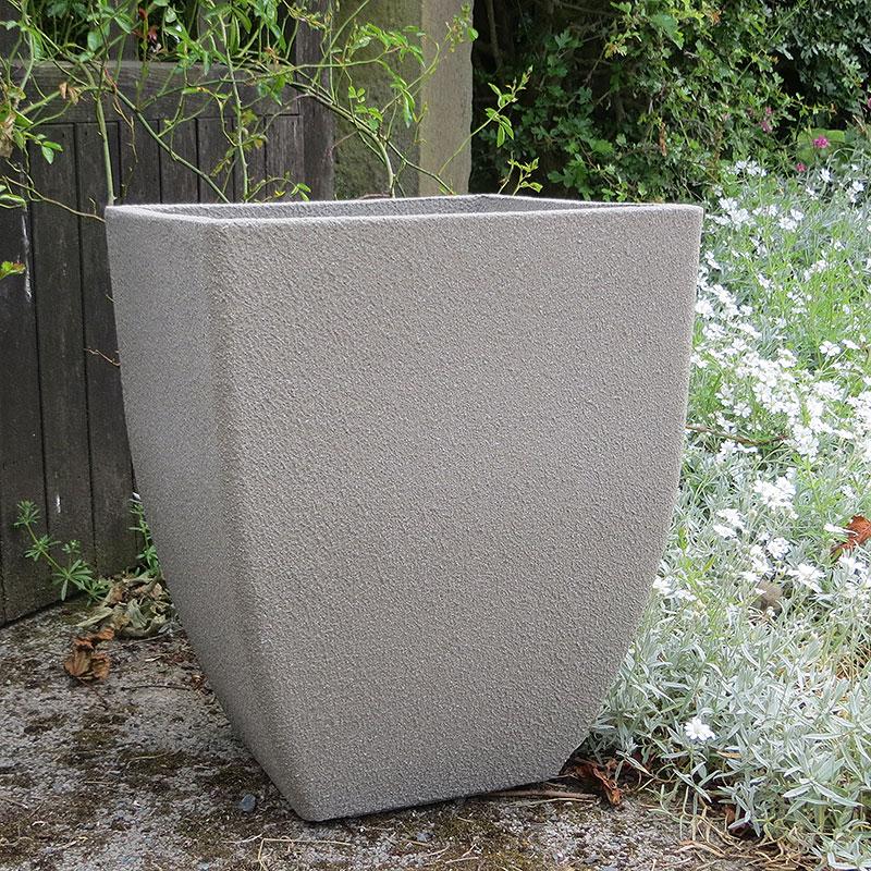Soho Square Planter, Limestone 43 cm-Lättviktskruka Soho Square Planter i fiberclay Limestone, 43 cm