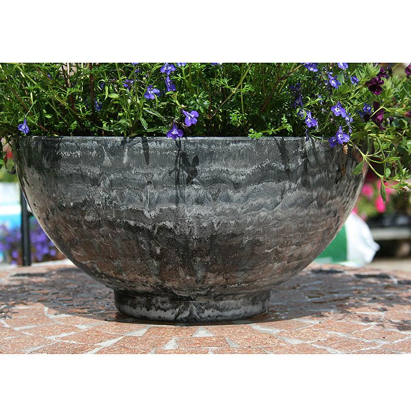 Aegean Bowl, Grey Marble, Lättviktskruka i fiberclay Aegean Bowl Grey Marble