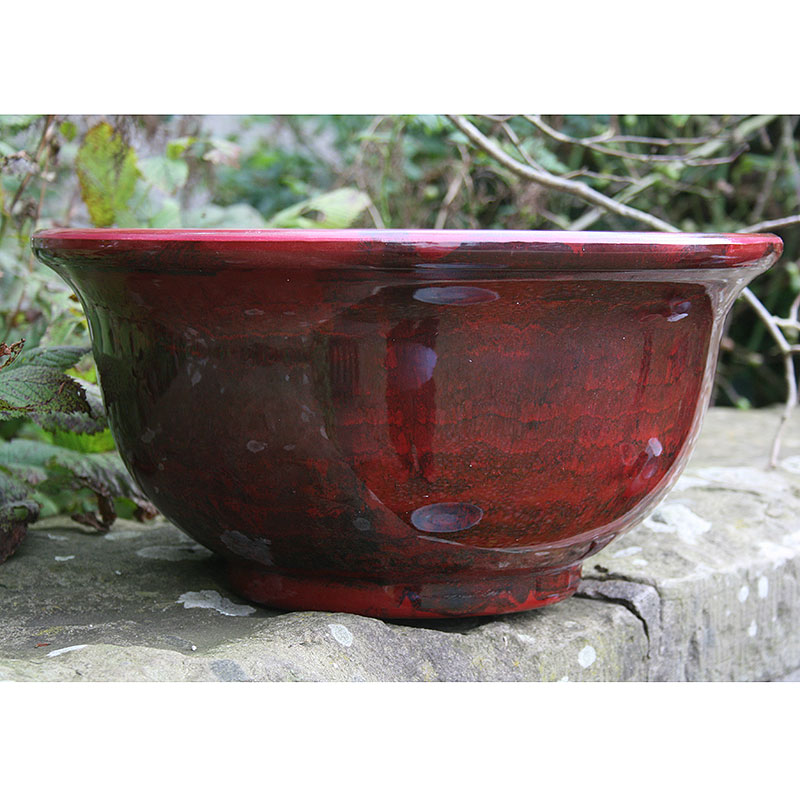 Lättviktskruka i fiberclay Aegean Bowl Ruby Red