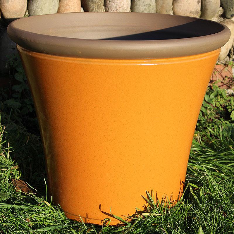 Lättviktskruka fiberclay Davenport Planter Amber 36cm