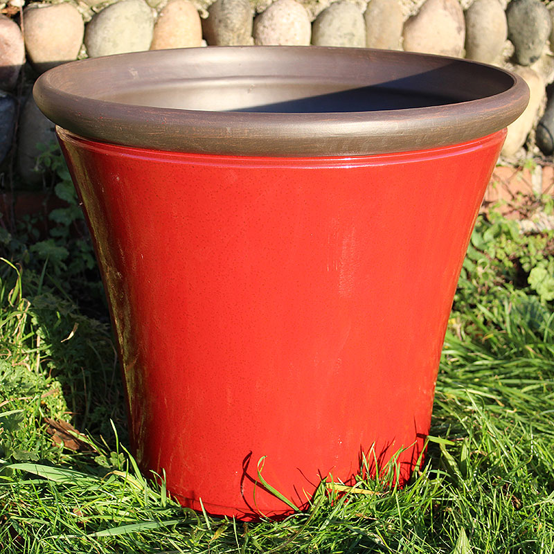 Lättviktskruka fiberclay Davenport Planter Post Box Red 36cm