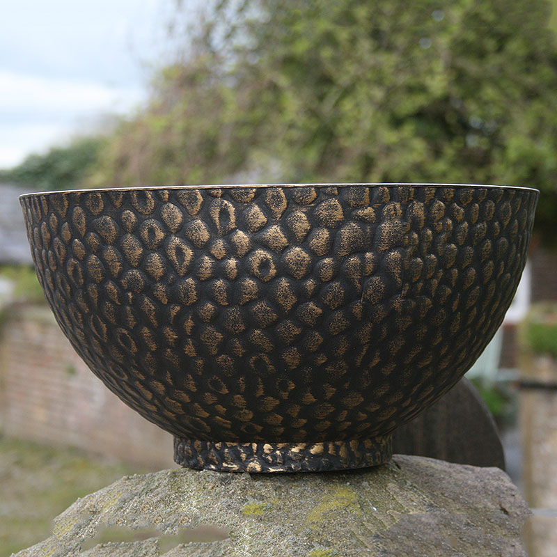 Cathay Bowl, svart/guld-Lättviktskruka Cathay Bowl svart/guld