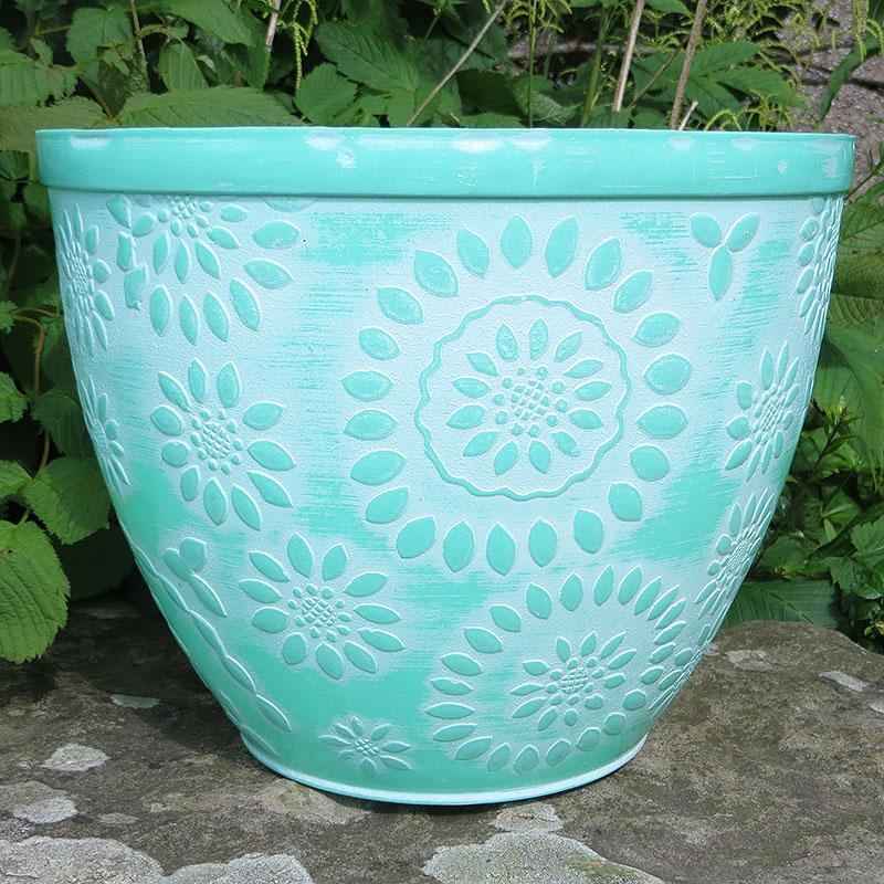 Chengdu Patio Pot, Pantone Turquoise-Lättviktskruka Chengdu Patio Pot Pantone Turquoise