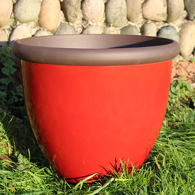Belair Planter, Post Box Red 40 cm-Belair Planter Postbox Red 40cm lättvikskruka i fiberclay