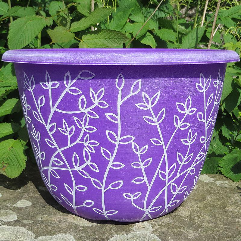 Serenity, Pantone Purple-Lättviktskruka Serenity Pantone Purple