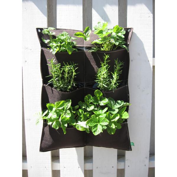 Filtkruka vägg sex fickor-Filtkruka för väggodling utomhus