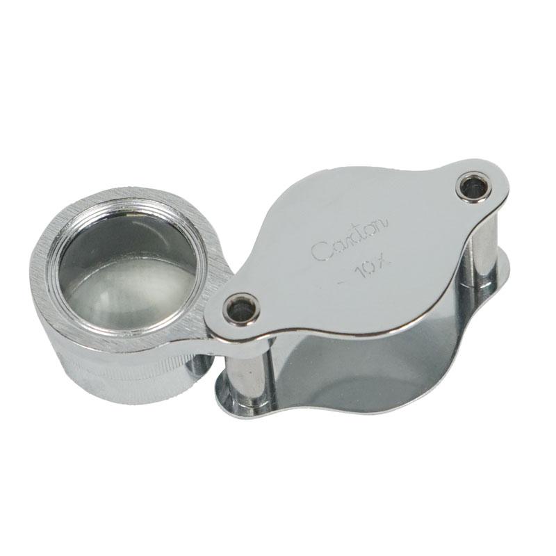 Metall-lupp - förstoringsglas 10x