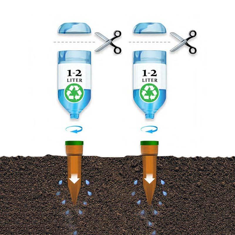 Kapillärbevattning med PET-flaska