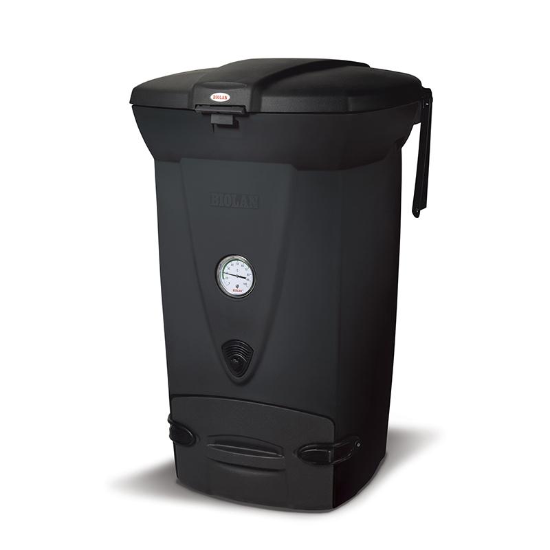 Värmeisolerad kompost med reglerbar luftväxlingsventil