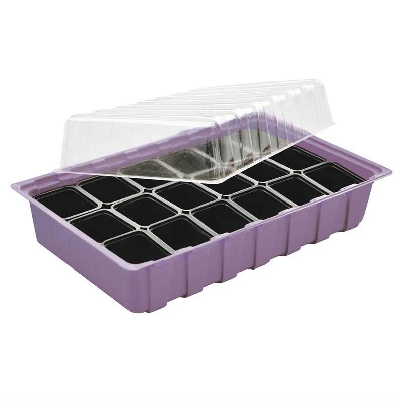 Miniväxthus för inomhusodling, lila