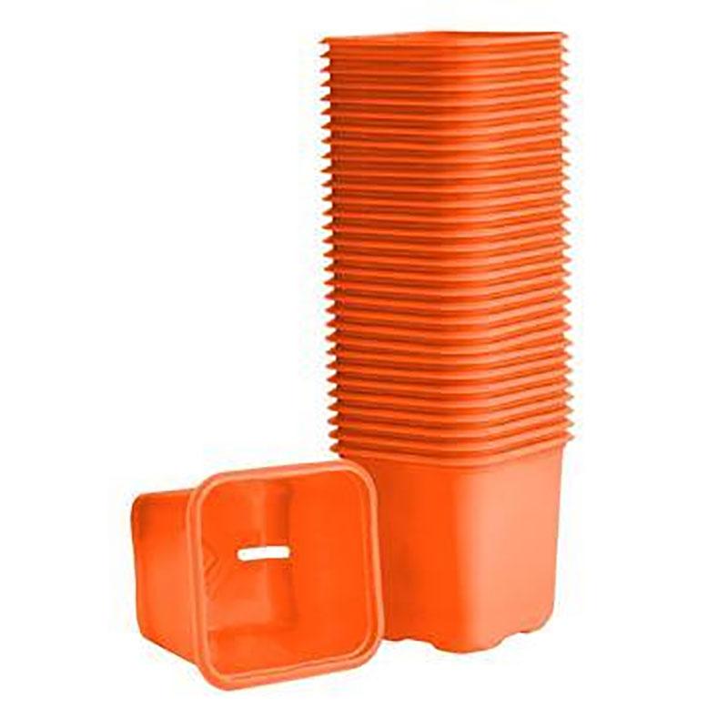 Plastkruka Orange, 6 cm-Orange plastkrukor för odling