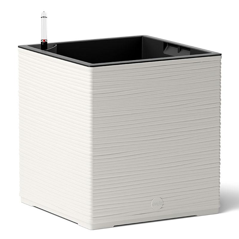 Självvattnande kubformad kruka Casa Cosy Cube, vit