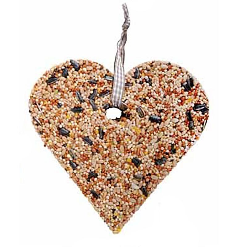 Fågelmat Hjärta-Fågelmat, frömix i hjärtform