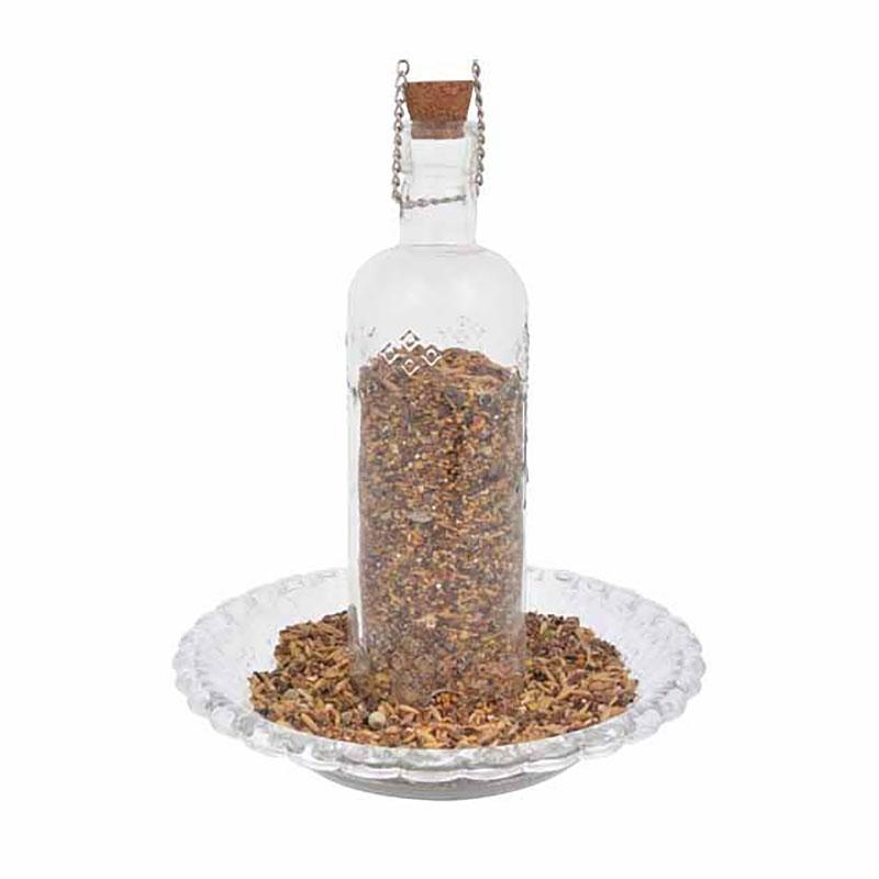 Fågelmatare flaska, ofärgad-Fågelmatare genomskinlig flaska