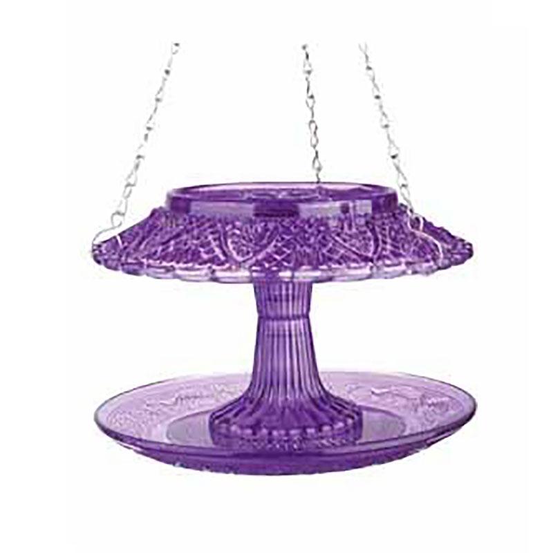 Fågelmatare i pressglas, lila-Fågelbord i pressglas - lila