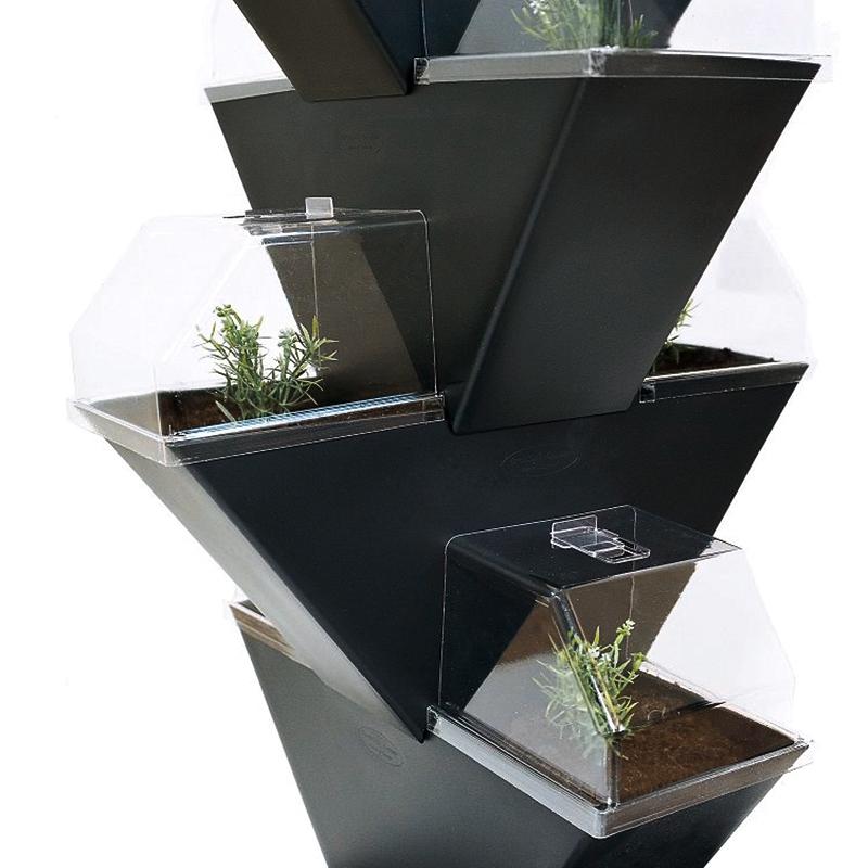 Vertikala planteringset Tower för odling på höjden