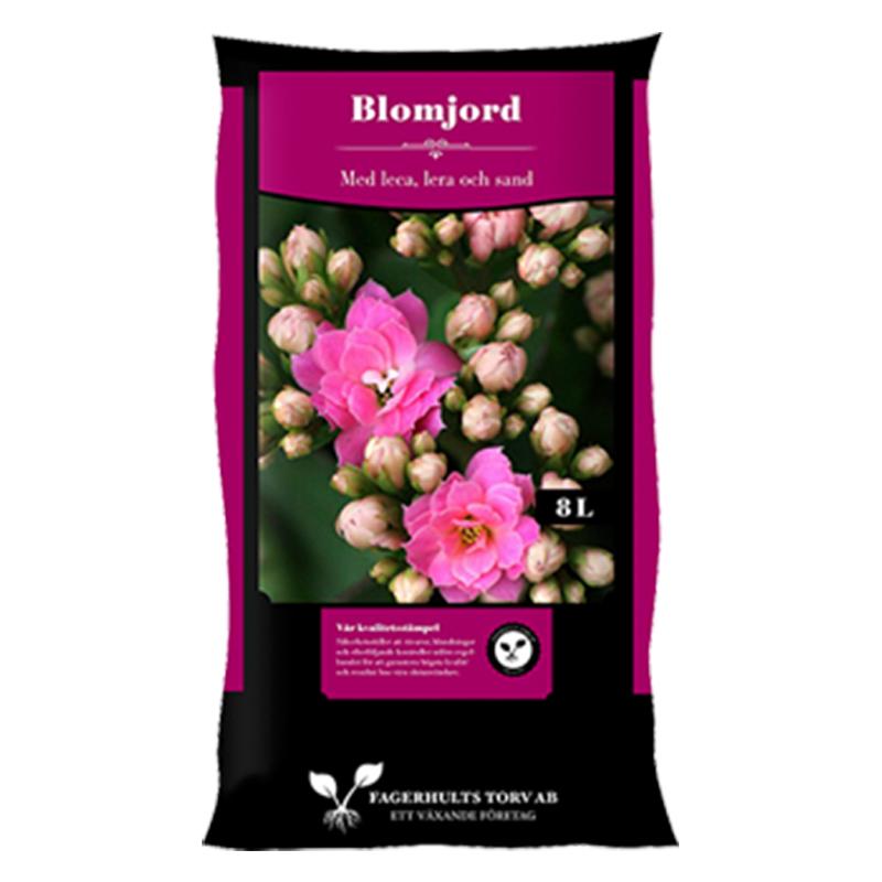 Blomjord, 8 L-Blomjord för krukväxter, 8 liter