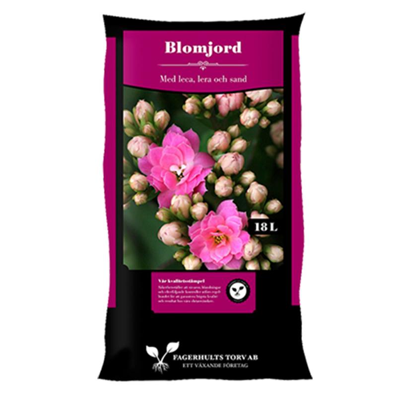 Blomjord, 18 L-Blomjord för krukväxter, 18 liter