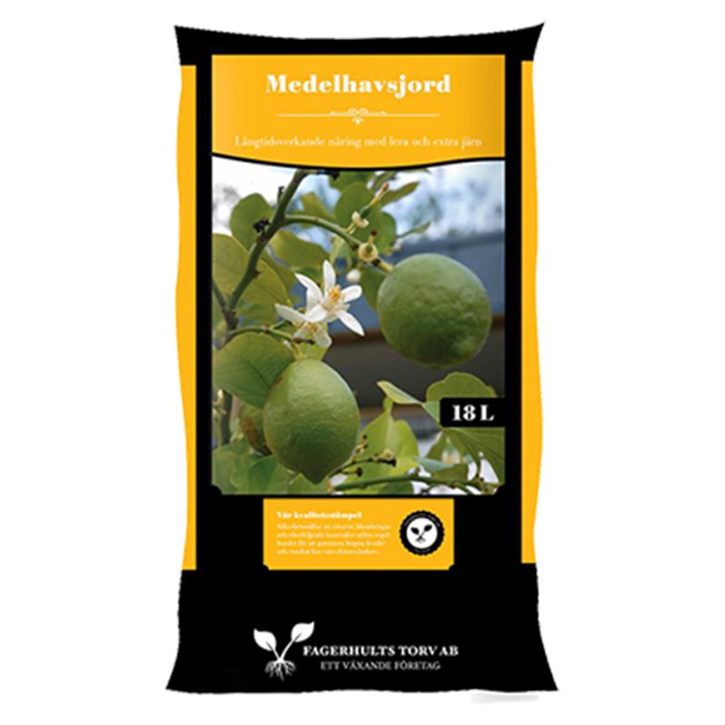 Medelhavsjord för citrus,oliv,nerium mfl, 18 liter